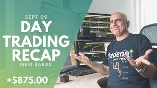 Day Trading Recap, Sept 9: How I Manage Losing Trades...