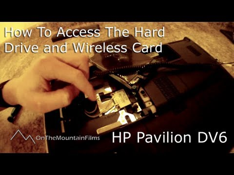 How to Access Hard Drive and Wireless Card - HP Pavilion dv6 Laptop [HD]