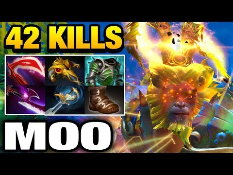Moo Monkey King with 42 Kills WICKED SICK Dota 2