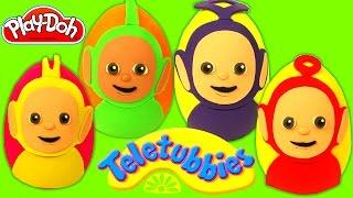 Huevos Sorpresas de los Teletubbies en Español de Plastilina Play Doh