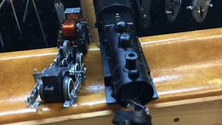Three Project Update IV: Restore 0-6-0 21004, reassembly and challenge with head lamp