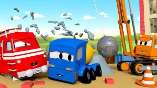Troy el Tren -  Dani la grúa de demolución - Auto City | Dibujos animados de trenes