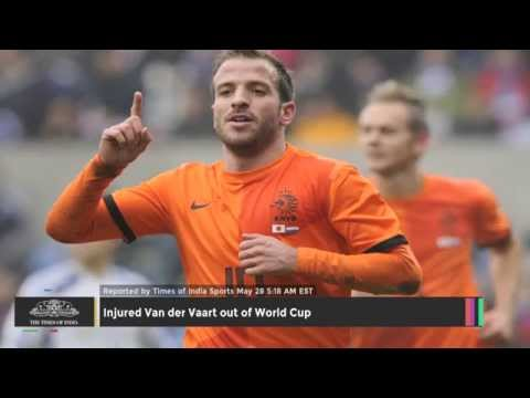 Injured Van Der Vaart Out Of World Cup - TOI