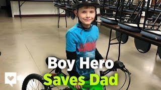 Boy Pedals Down Highway To Save Dad's Life | Humankind