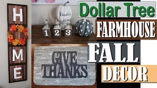 DOLLAR TREE FARMHOUSE FALL DECOR 2018 -  DOLLAR TREE DIY PROJECT
