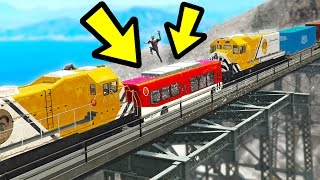CAN YOU STOP THE TRAIN CRASH IN GTA 5? (Incredible)
