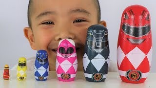 Power Rangers Nesting Dolls Surprise Opening Fun With CKN Toys