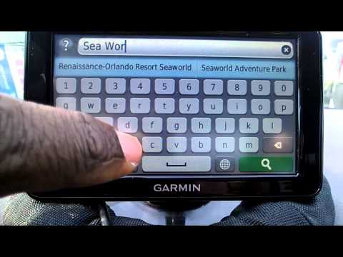 Garmin Nuvi 2595 LMT / How To Save An Address