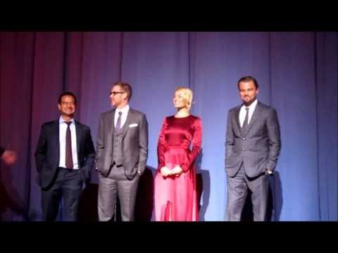 The Wolf of Wall Street Premiere London in-screen intros with Leonardo DiCaprio and co-stars