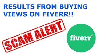 Results from buying 1k YouTube views on Fiverr!