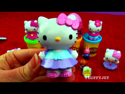 Hello Kitty Play-Doh Surprise Eggs Frozen Peppa Pig Disney Princess Spongebob Angry Birds FluffyJet