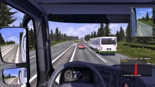Euro Truck Simulator 2:1.7.0.Russia express map v3.0,Russian Car,Realistic Physics Mod v7.0