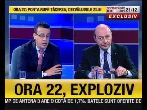 """Preşedintele PMP, Traian Băsescu, la """"Ediţia de seară"""", cu Victor Ciutacu"""