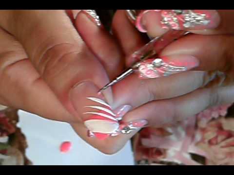 Neon Orange Nail Designs Neon Orange Silver Nail Art