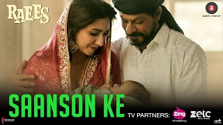 Saanson Ke HD Video Song Raees Shah Rukh Khan Mahira Khan KK