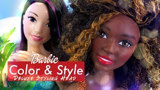 Unbox Daily: Barbie Color & Style Deluxe Styling Head PLUS Fabulous NEW Curly Hair Texture