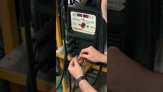 Max Amp pedal test circuit on WAVE 200KD AC/DC TIG Machine