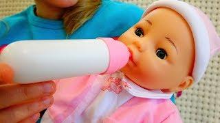 Говорящая кукла BAMBOLINA ФЛОРА  Хочет Кушать Полина КАК Мама Видео для девочек