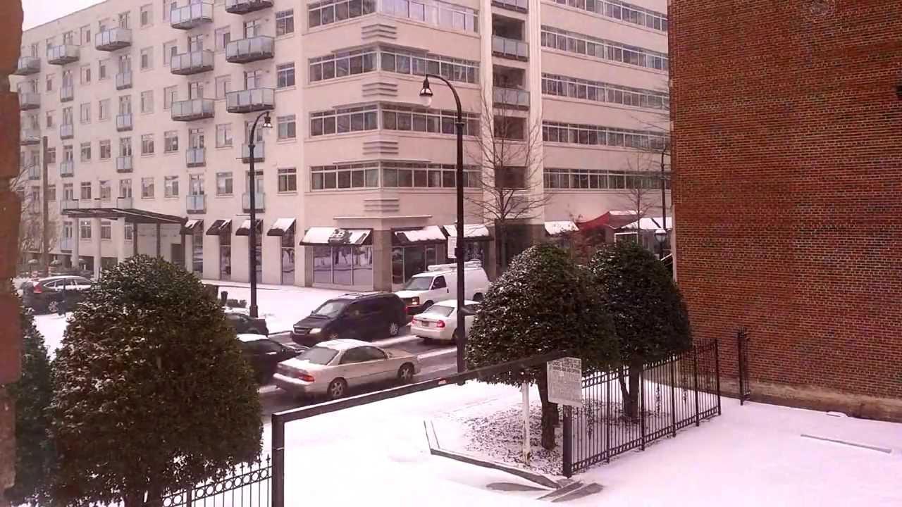Snow in Atlanta - Time Lapse