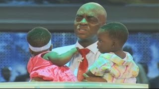 Bishop Oyedepo-Pastors-Winners-Rejoice-27 yrs Bareness Terminated in Twins Birth