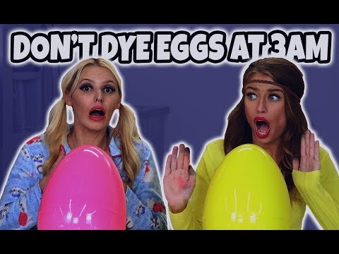 Don't Dye Easter Eggs at 3 AM Challenge. (We Transform When We Try It.) Totally TV