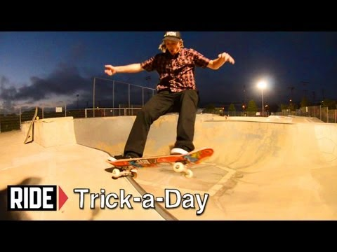 How-To Skateboarding: Frontside 5-0 Over a Hip With Fritz Mead
