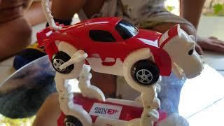 Trò Chơi Xe Biến Hình Bằng Dây Cót ❤ Auto Transformer Uniq Car ❤ TinTin TV ❤