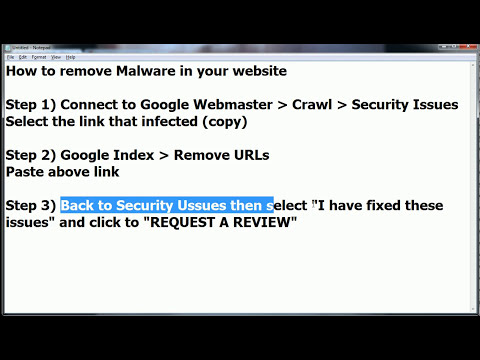 How to remove malware in your website [HD 720p]