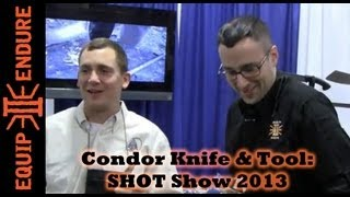 Condor Knife and Tool Interview with Joe Flowers, SHOT Show 2013