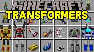Minecraft TRANSFORMERS MOD!   BECOME OPTIMUS PRIME, JETS, CARS, & MORE!   Modded Mini-Game