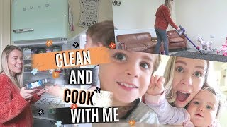 CLEAN WITH ME AND COOK WITH ME 2018 | CLEANING MOTIVATION