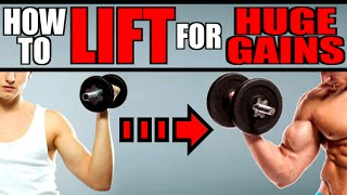 HOW TO LIFT WEIGHTS PROPERLY | PROPER WEIGHT LIFTING FORM FOR BIG GAINS | BEGINNERS WORKOUTS
