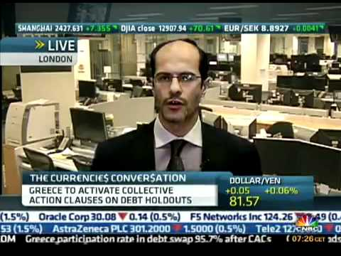 Ashraf Laidi on CNBC after the PSI Deal - Mar 9, 2012 Chart