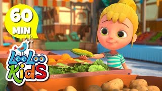 Going to the market 🎨 Color Song for Children | LooLoo Kids