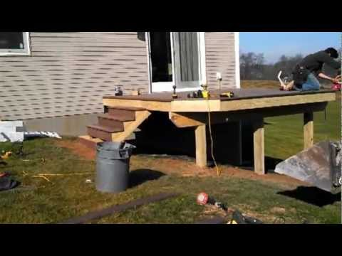 Deck Built From Start To Finish Youtube