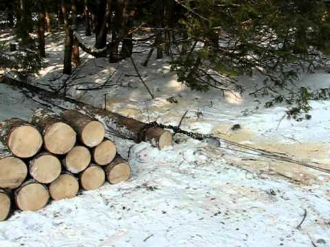 0 Firewood Log Winching Demo