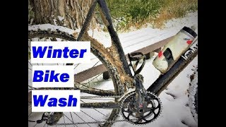 Winter Cycling: How to clean a dirty frozen bike indoors