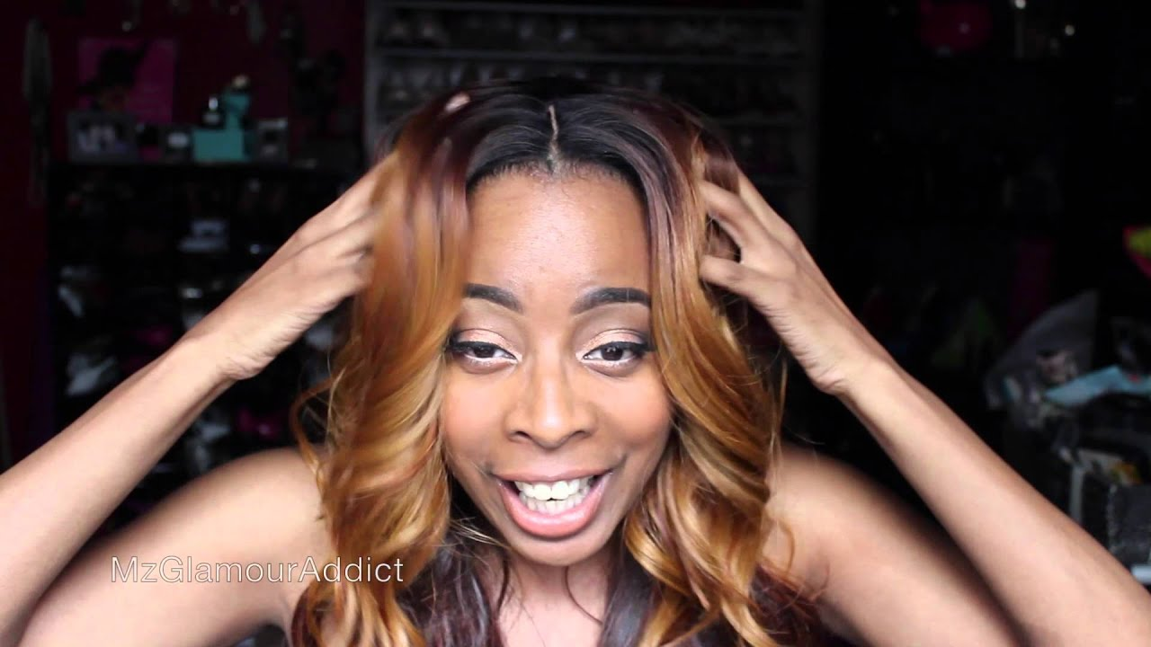 TB Outre Lydia Lace Front Wig In Color DR30 YouTube