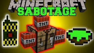 Minecraft: SABOTAGE MOD (EXPLOSIVE BLOCKS, DETONATE PEOPLE, & POISONOUS FOOD!) Mod Showcase