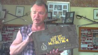 WW2 BRITISH ARMY WOOD .303 RIFLE AMMUNITION BOX
