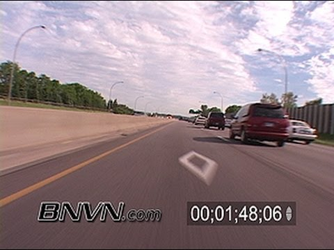 Traffic and HOV or High Occupancy Vehicle Lanes B-Roll Footage
