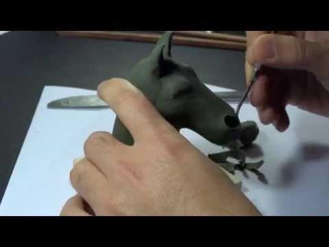 modelado de un caballo en plasticina