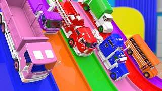 Colors for Children - Learn Colors for Kids with Trucks Street Vehicles Learning Video