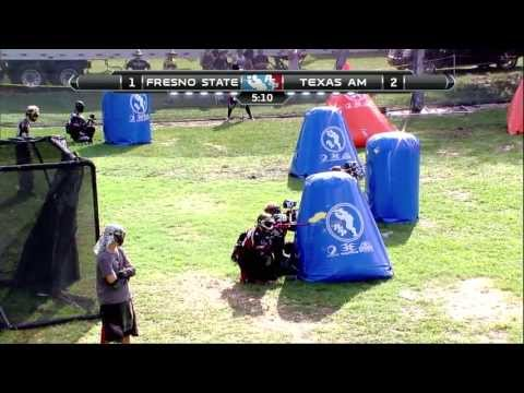 2013 NCPA College Paintball Champs Prelims - Fresno State Vs. Texas A&M