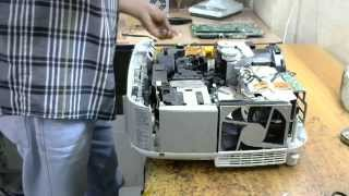 how to clean the filter on a hitachi projector