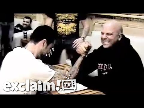 After talking some smack about motocross and Wrestlemania, Jordan Burns and Jason Cruz from Strung Out get down to a good ol' fashioned arm wrestle. ---------------------------- � NEW...