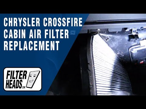 Cabin Air Filter Replacement Chrysler Crossfire Youtube