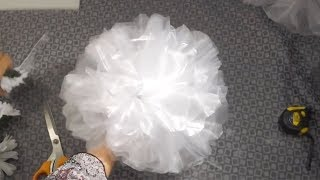 How to make wedding organza bow with flowers