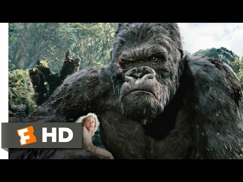 King Kong (310) Movie CLIP - Kong Battles the T-Rexes (2005)...