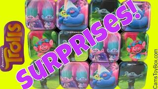 Dreamworks Trolls Tins Box Surprises Eggs Easter Plastic Chocolate Blind Bags Series 3 Chupa Chups